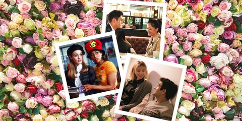 Pink, Collage, Flower Arranging, Garden roses, Flower, Rose, Floristry, Petal, Plant, Floral design,