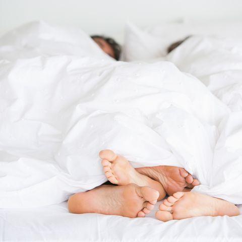 Richard & Kirstin bed feet -009