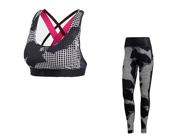 adidas sports bra and leggings