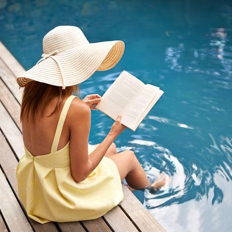 Skin, Sun hat, Beauty, Hat, Sitting, Summer, Headgear, Vacation, Leisure, Photography,