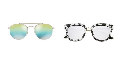 ZeroUV sunglasses; Ray-Ban sunglasses
