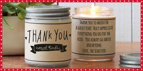 thank you candle gift for teachers