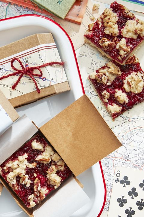 best thanksgiving recipes cranberry crumb bars