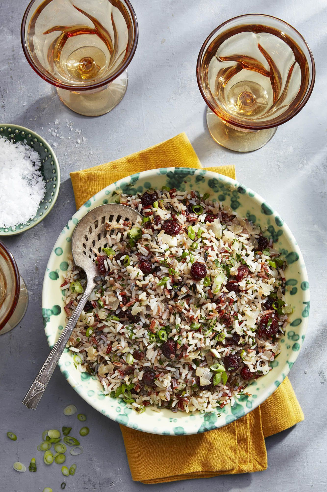 best thanksgiving recipes wild rice and cider cranberry pilaf