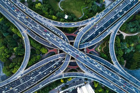 directly above view of road thanksgiving day best travel times 2019   when should i leave for the airport