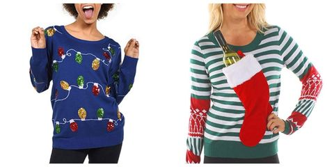 121f1f9bec16 22 Best Ugly Christmas Sweaters for Women - Funny Holiday Sweater Ideas