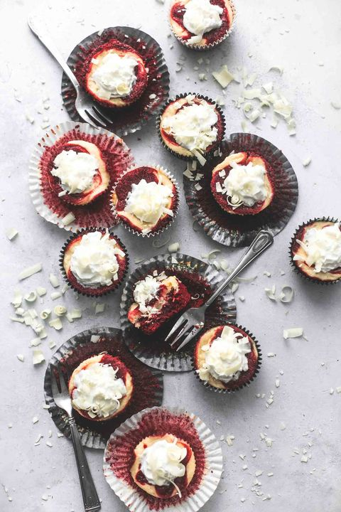 best valentines day desserts red velvet cheesecake bites