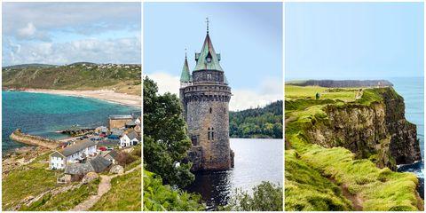 Landmark, Natural landscape, Tourism, Promontory, Tourist attraction, Coast, Historic site, Hill station, Travel, Cliff,