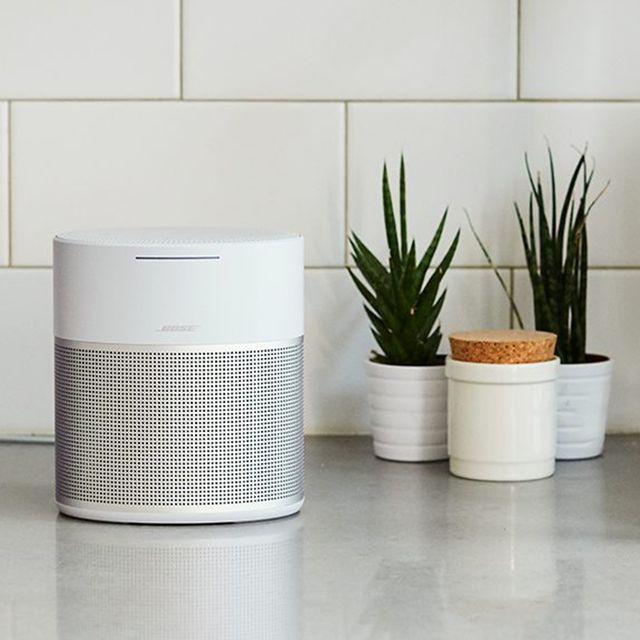 bose wifi speaker on kitchen countertop