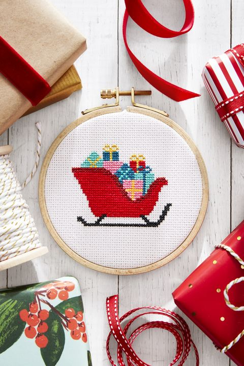 best winter activities cross stitch