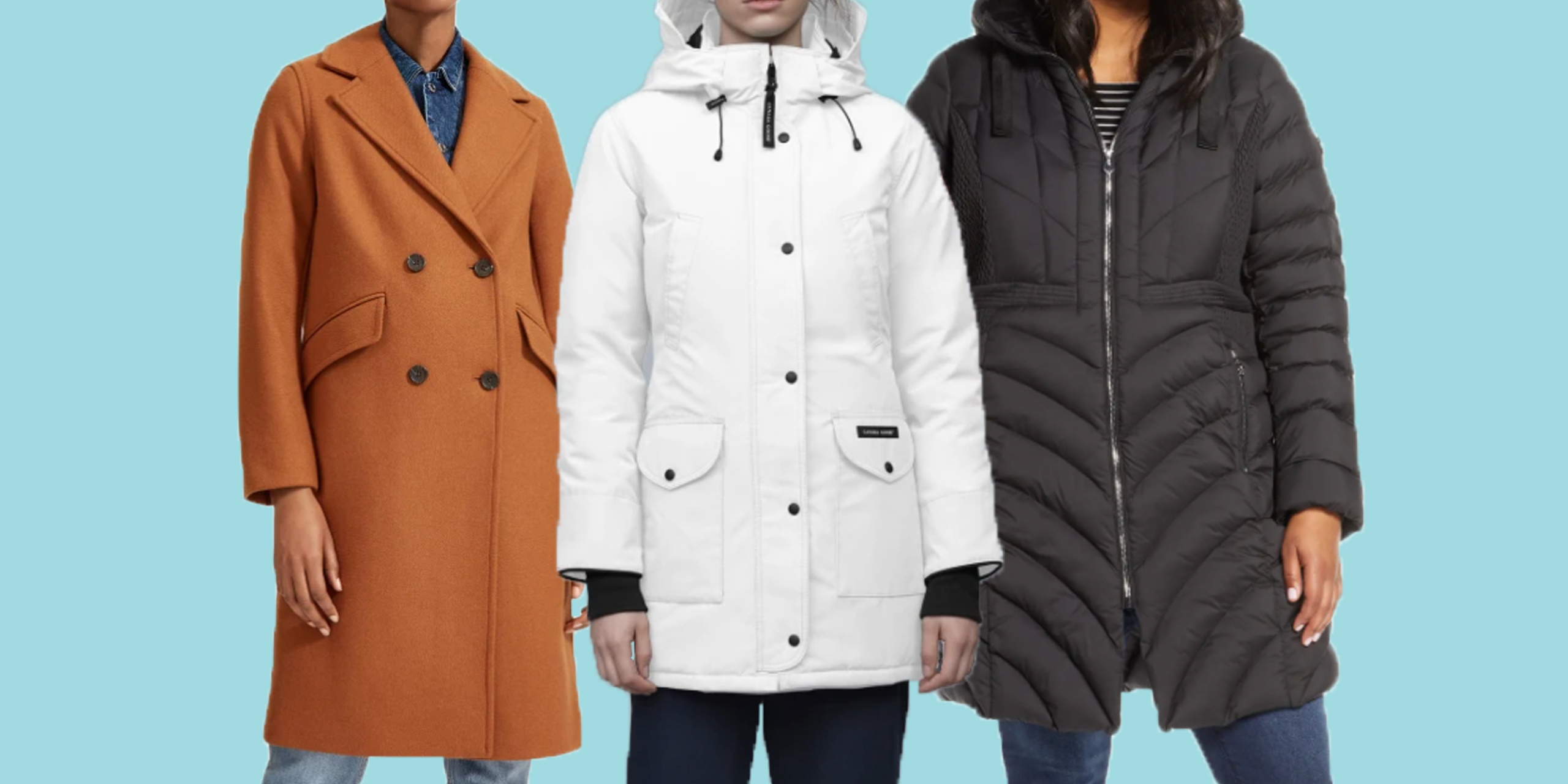 Essentials Womens Heavy-Weight Hooded Puffer Coat Dress Coat