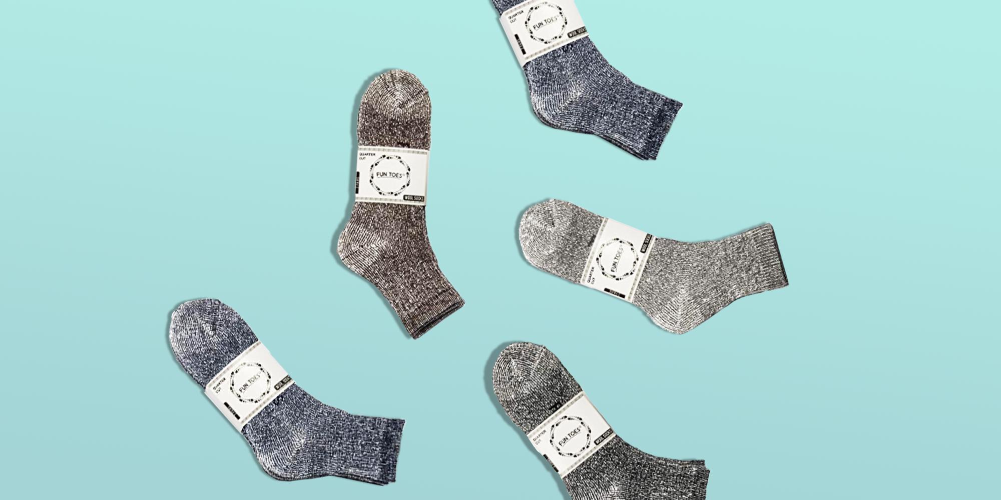 1Pair High Quality Women Long Wool Thermal Boot Walking Winter Warm Socks LC