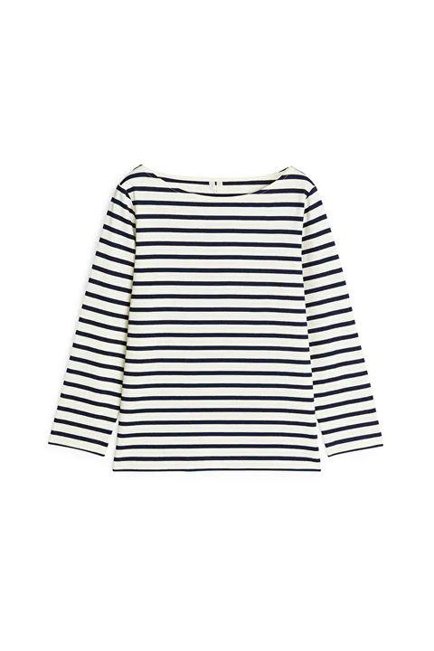 Best breton top -ARKET Striped cotton top