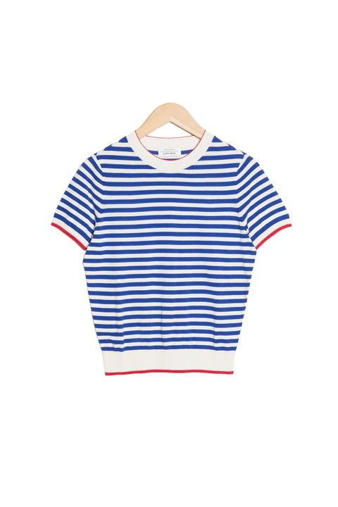 best breton top -& Other Stories Micro Knit Striped Top