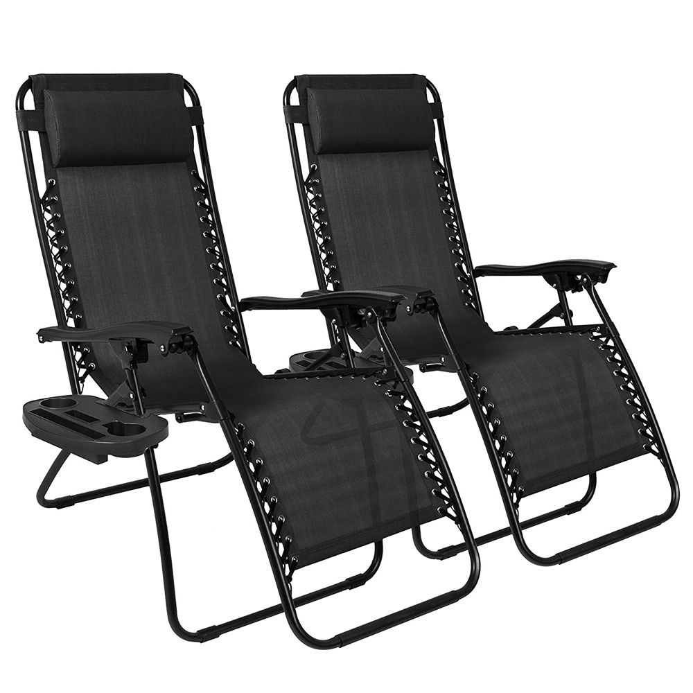 Best Choice Products Zero Gravity Chairs (Set of Two)  sc 1 st  BestProducts.com & 9 Best Outdoor Lounge Chairs for Summer 2018 - Outdoor Chaises to ...