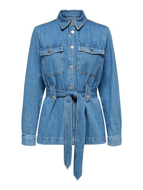 Denim, Clothing, Jeans, Blue, Outerwear, Sleeve, Jacket, Textile, Pocket, Collar,