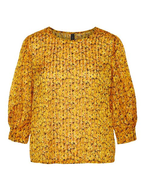 Clothing, Yellow, Sleeve, Outerwear, Blouse, Orange, Top, Shirt,