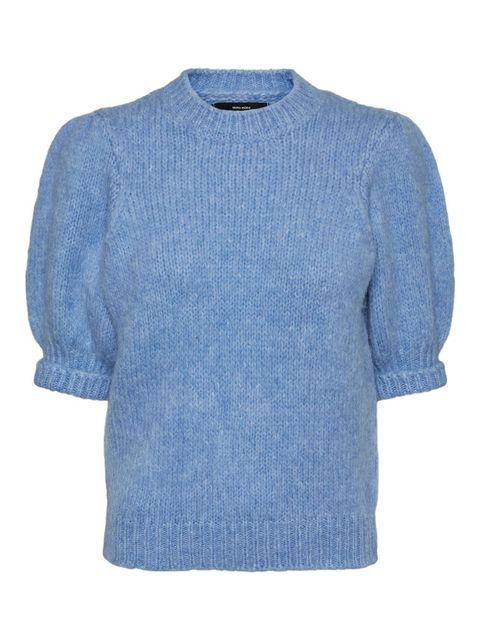 Clothing, Blue, Sleeve, Outerwear, Sweater, Jersey, Denim, T-shirt, Top, Wool,