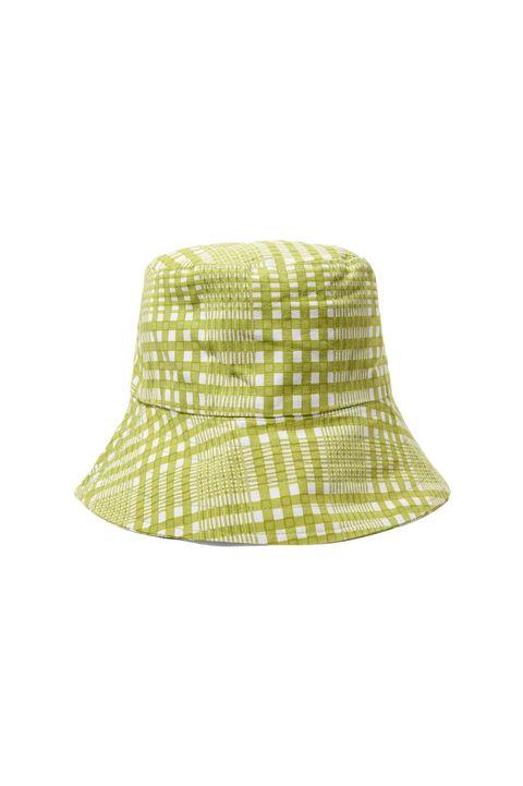 best summer hats -FAITHFULL THE BRANDChecked cotton-canvas bucket hat