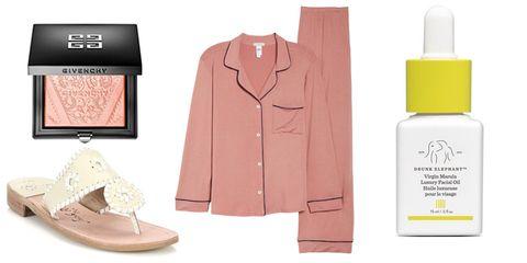 Product, Skin, Pink, Beauty, Beige, Footwear, Outerwear, Peach, Coat, Material property,