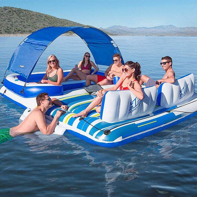 bestway hydro force tropical breeze floating island raft