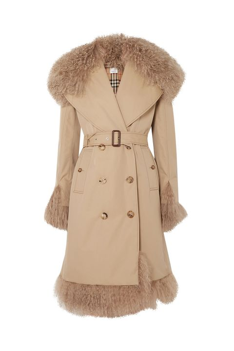 best trench coat - 70s shearling trench coat