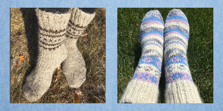 Warm Socks Kitted Socks Gift for Men Wool Socks Mens Socks Hand Knitted Items Men Knitting Blue Socks House Slippers