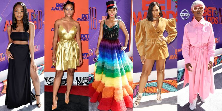 bet awards red carpet looks 2018
