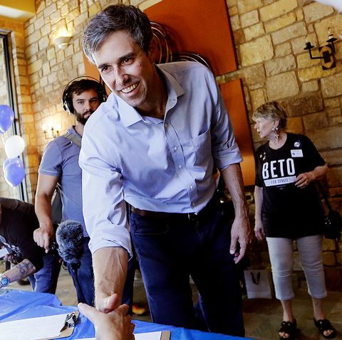 Texas Senate Candidate Beto O'Rourke Holds Town Hall Meeting In Horseshoe Bay