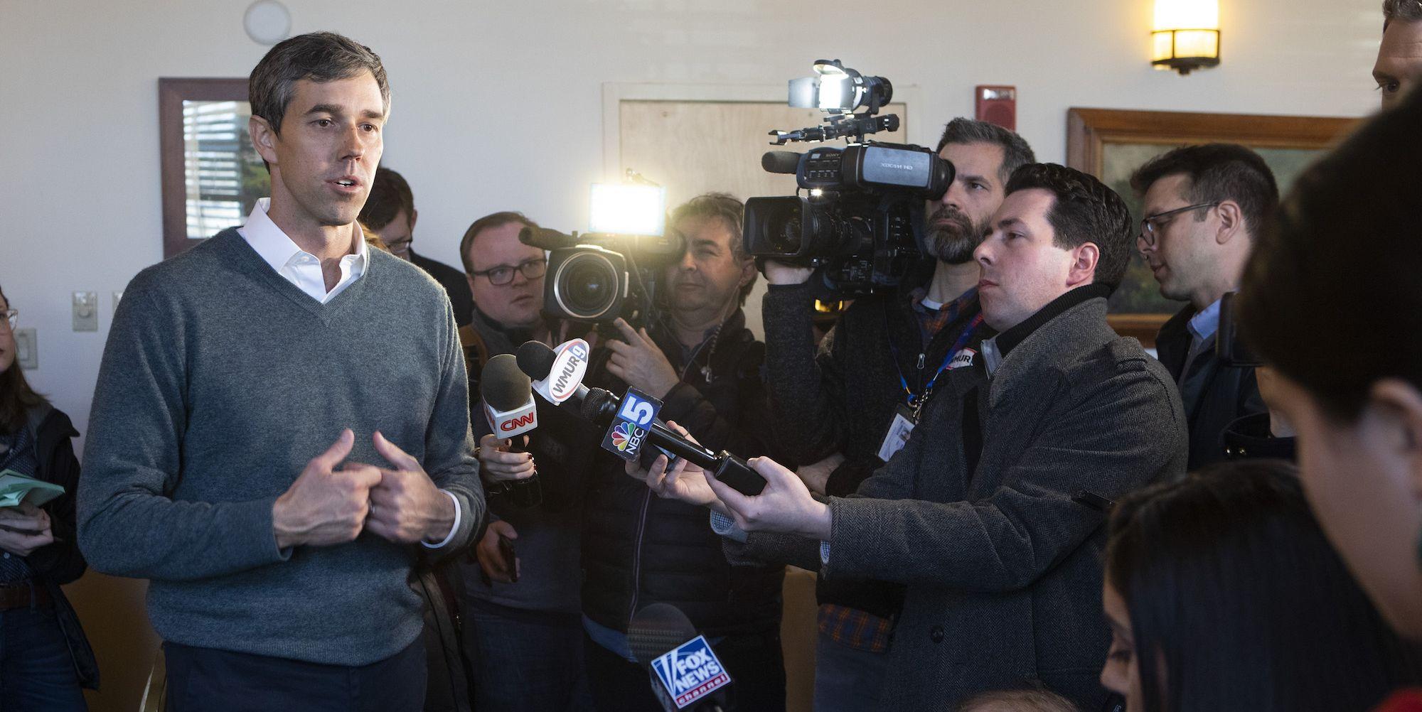 Beto O'Rourke campaigns in New Hampshire