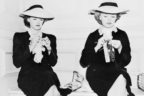 bette davis and her stand in sally sage