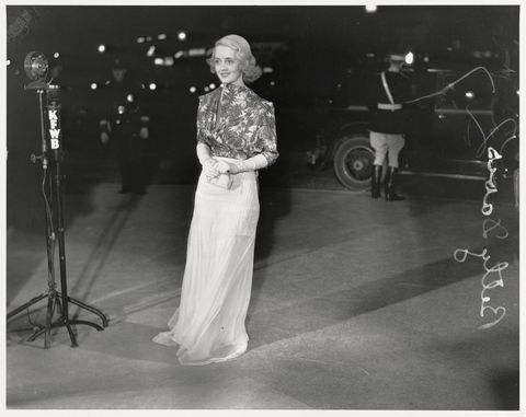 Young Bette Davis Wearing Formal Attire