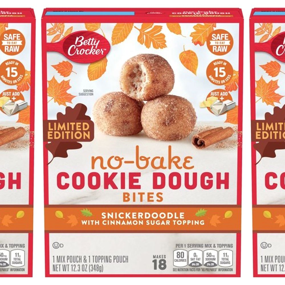 Betty Crocker Is Releasing Snickerdoodle No-Bake Cookie Dough Bites for a Fall Treat