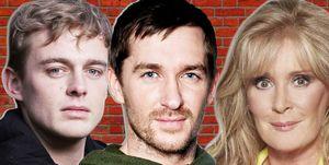 Beverley Callard, Liz McDonald, Corination Street, Peter Beale, Dayle Hudson, EastEnders and Pete Barton as Anthony Quinlan, Emmerdale