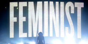 Beyonce feminist sign