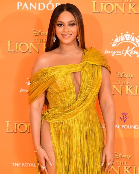 beyonce attending disneys the lion king european premiere held in leicester square, london photo by ian westpa images via getty images