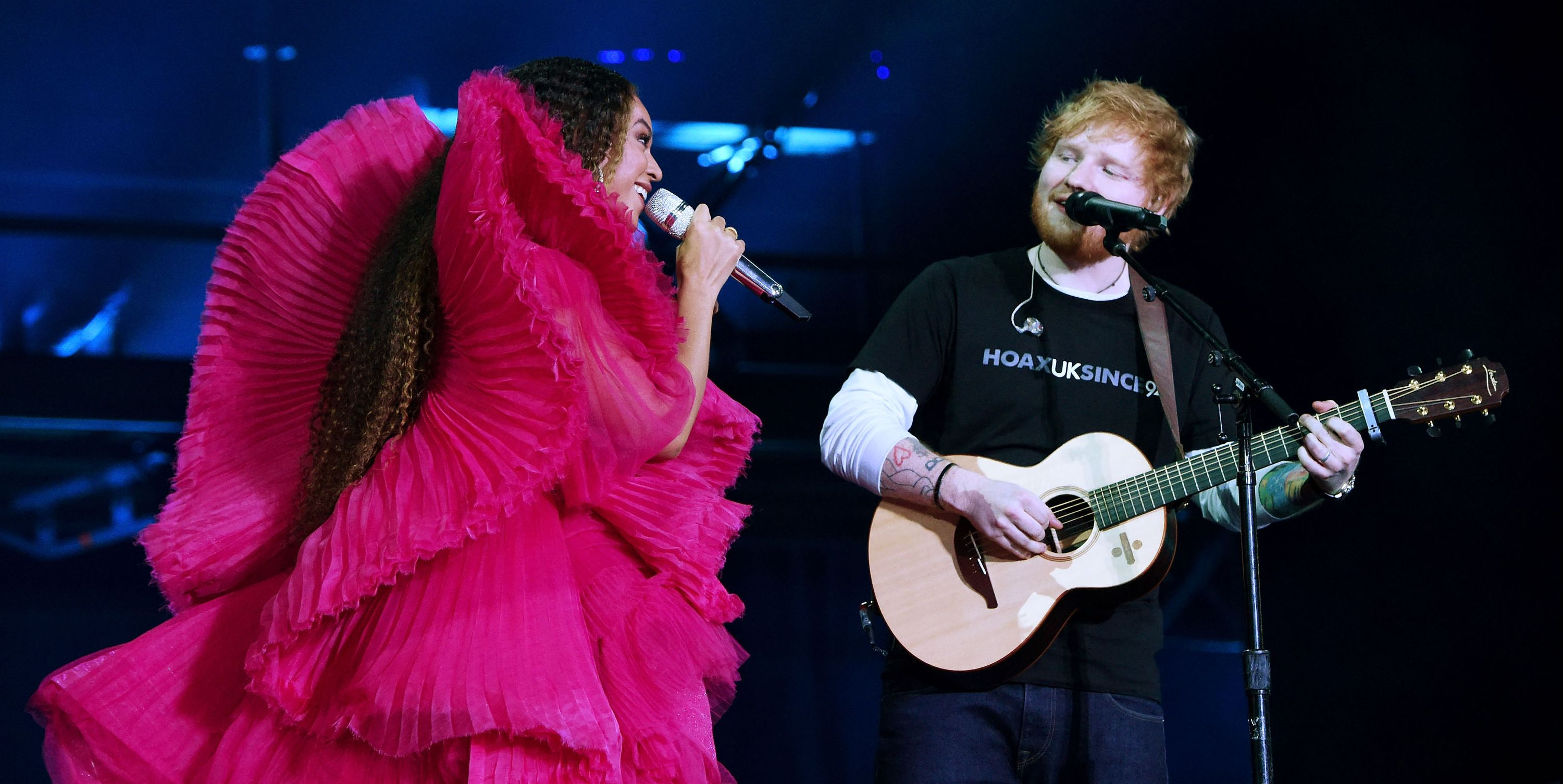 Is it Legal For Ed Sheeran to Dress Like This in Front of Beyoncé?