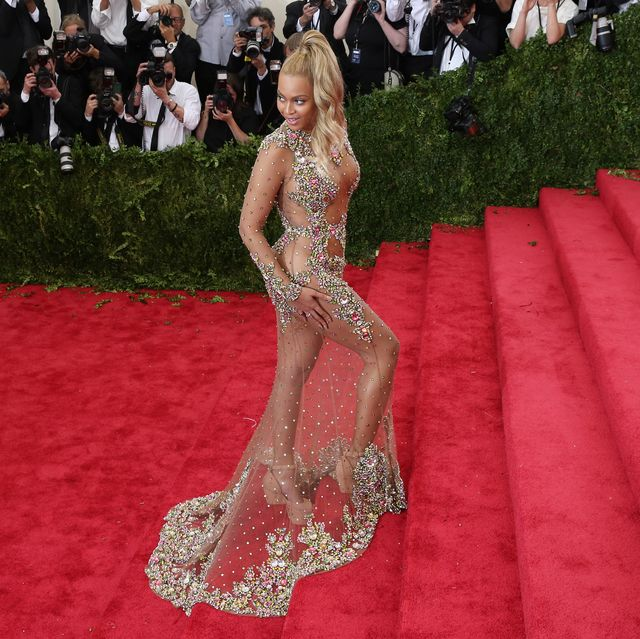 beyonce at costume institute benefit gala