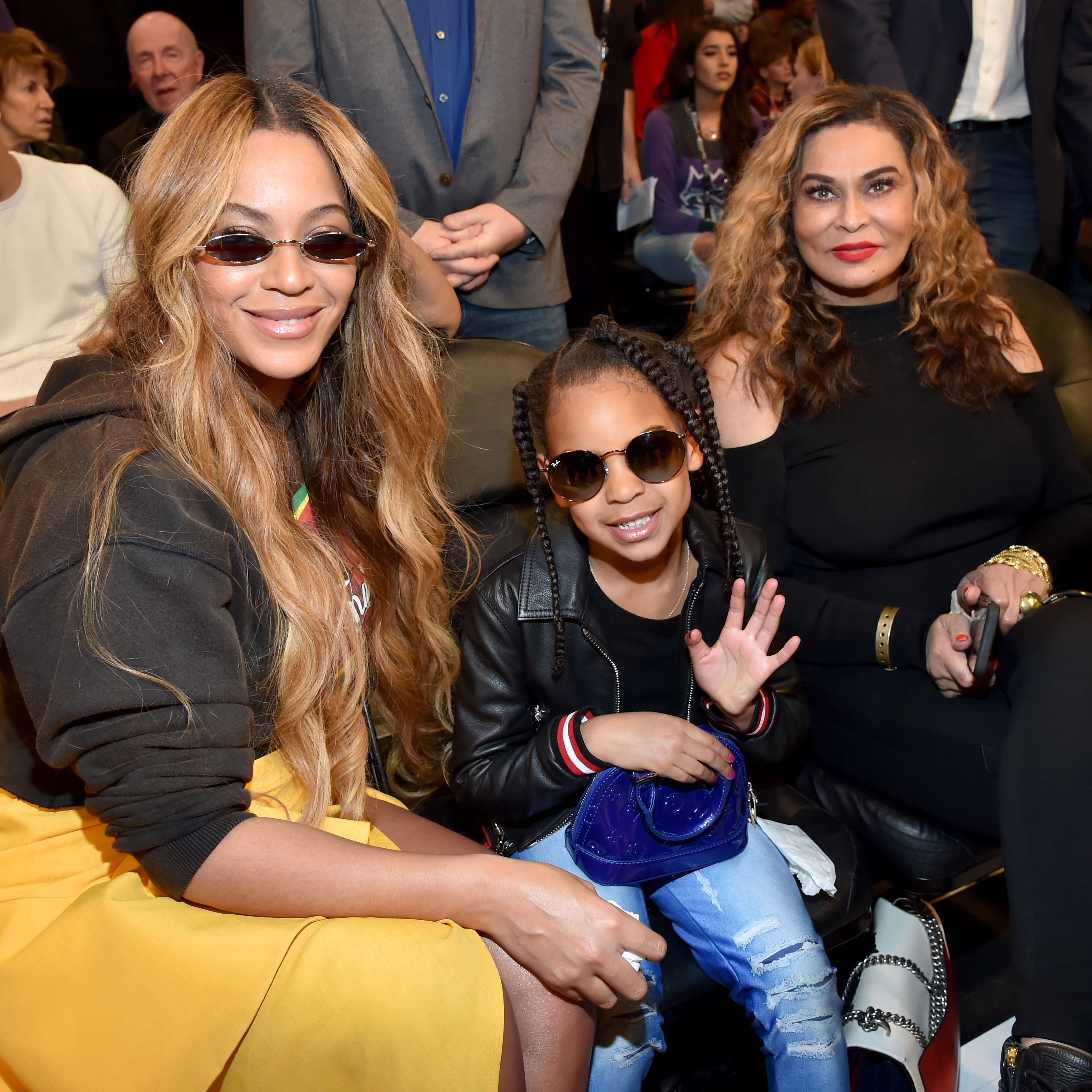 This Video of Blue Ivy Carter Telling Beyoncé's Mom a Corny Joke Is the Best Thing