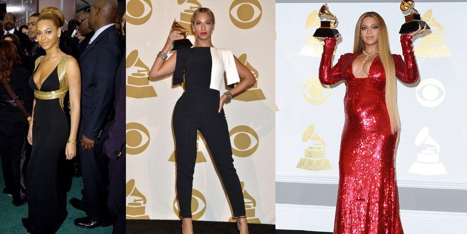 Beyonce grammy dresses