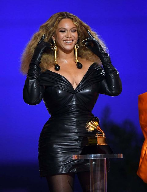 los angeles, california   march 14 beyoncé accepts the best rap performance award for 'savage' onstage during the 63rd annual grammy awards at los angeles convention center on march 14, 2021 in los angeles, california photo by kevin wintergetty images for the recording academy