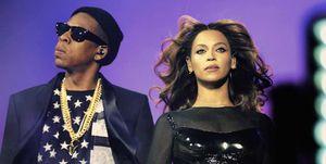 Beyoncé y Jay-Z en un concierto en París