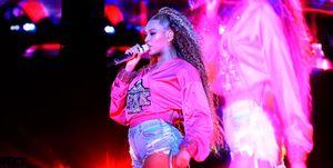Beyonce en2018 actuando en Coachella.