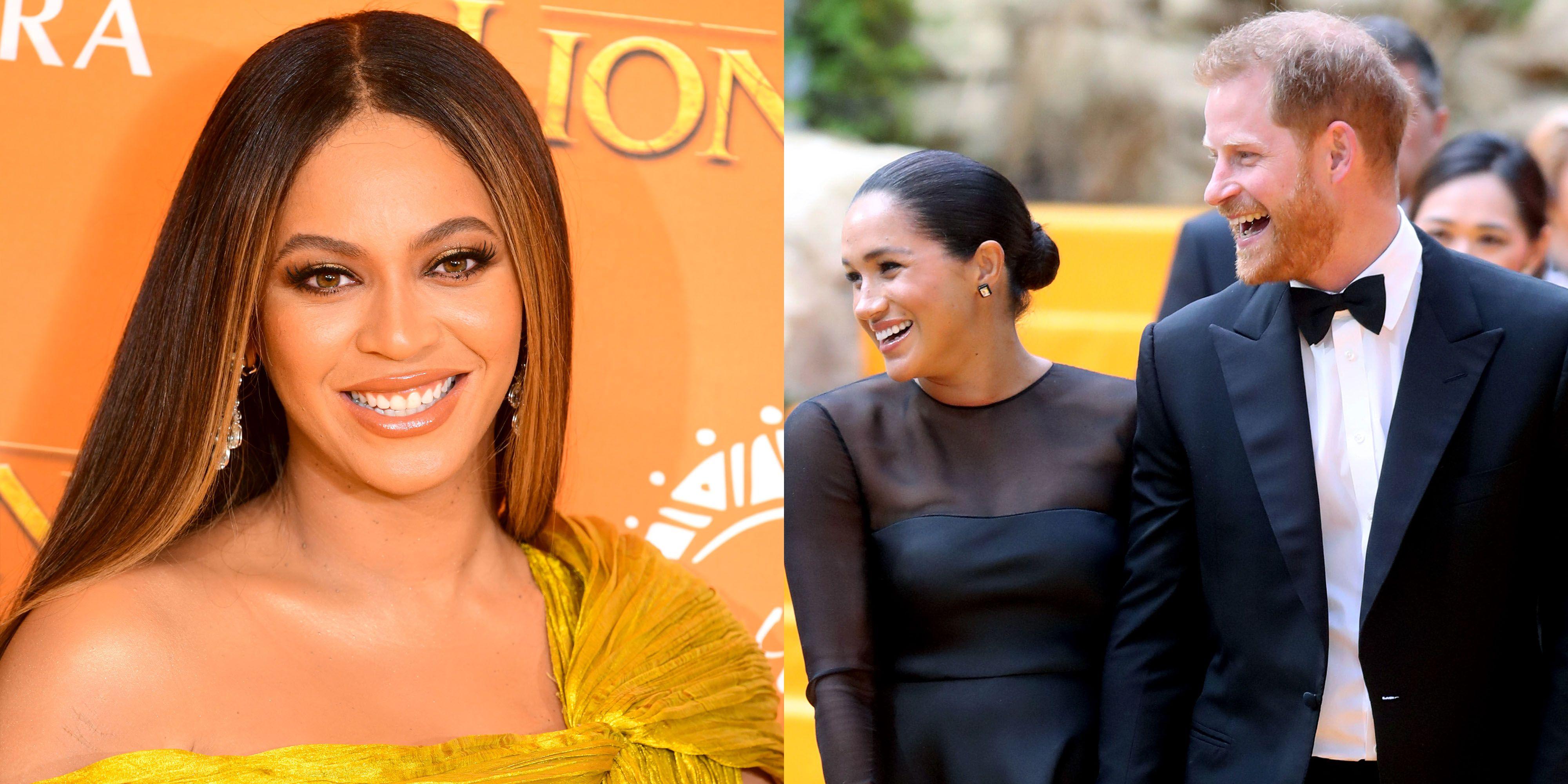 Meghan Markle Meets Beyoncé at 'The Lion King' Premiere in London
