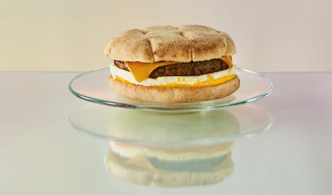 Food, Dish, Cheeseburger, Cuisine, Breakfast sandwich, Hamburger, Ingredient, Junk food, Baked goods, Sandwich,
