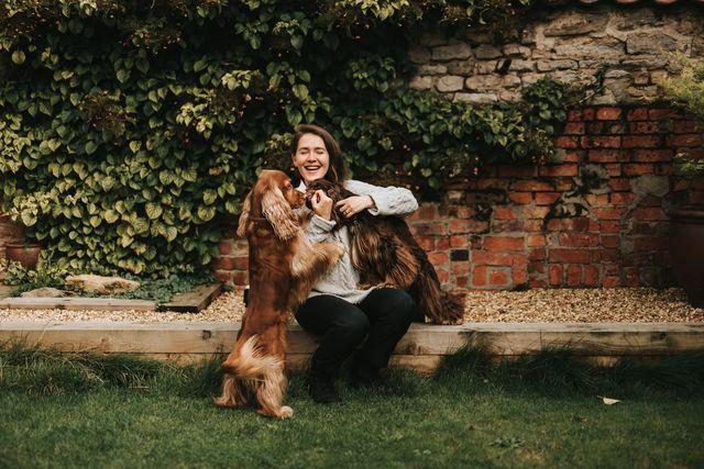 author natalia ashton with her two cocker spaniels