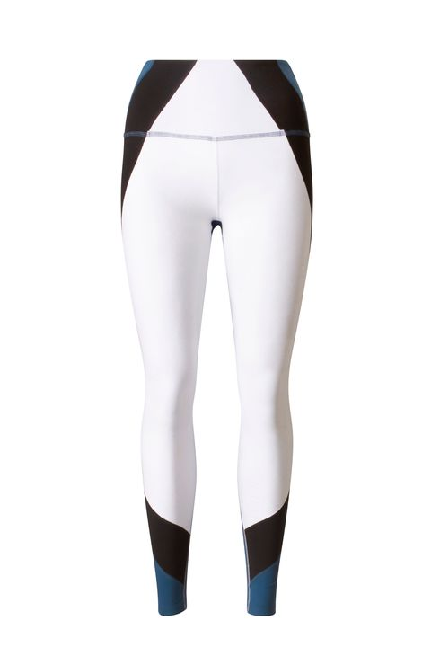 White, Clothing, Tights, Leggings, Leg, Trousers, Waist, Sportswear, Electric blue, Fashion accessory,