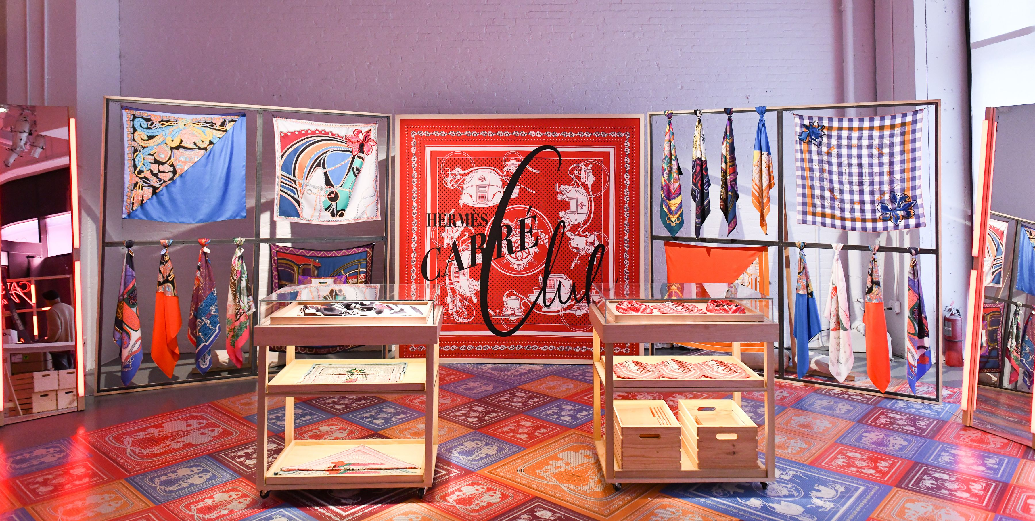 The Hermès Pop-Up in New York City is a Silk Scarf Fantasyland