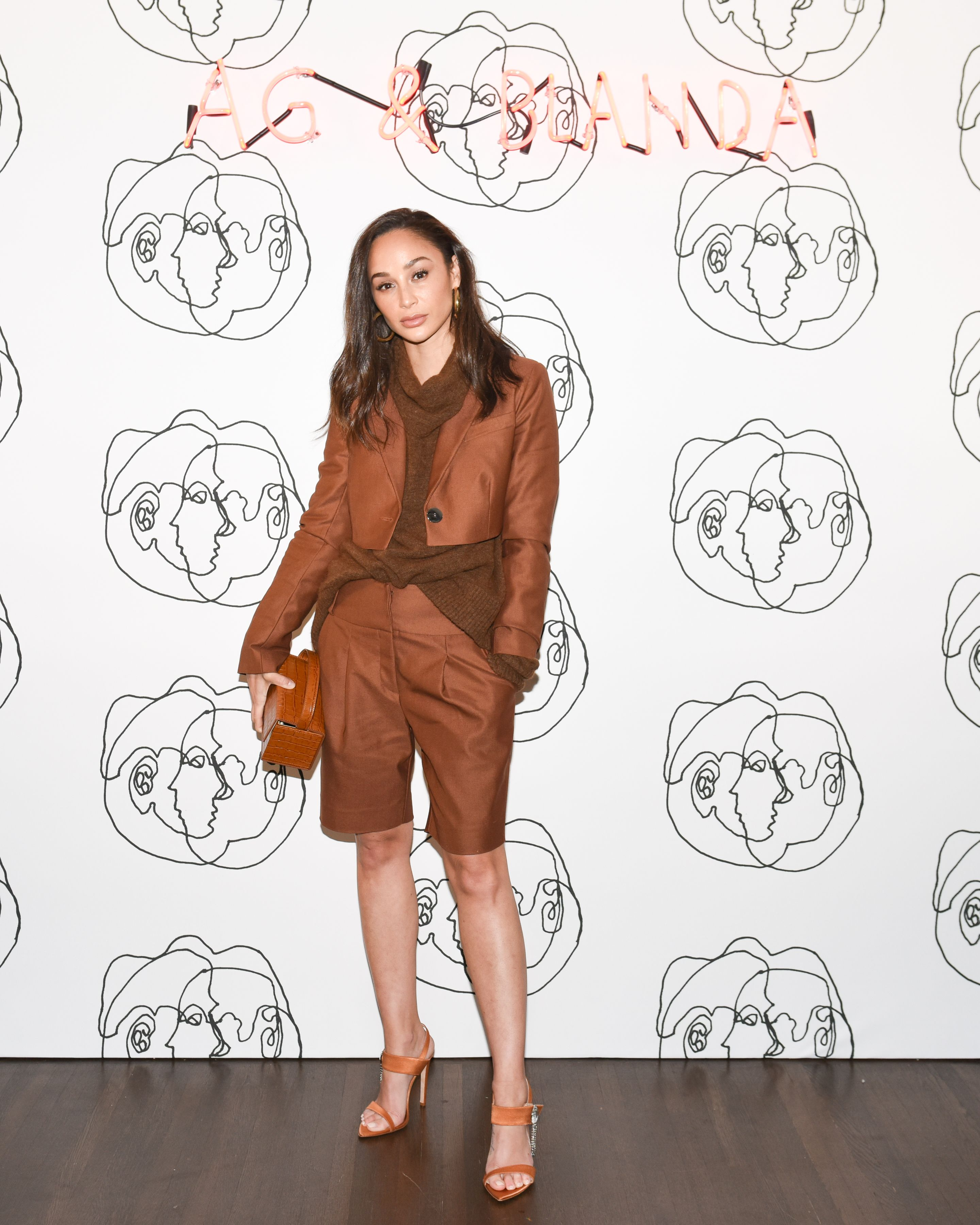 Cara Santana Cara Santana at the launch of AG's exclusive capsule collection with multimedia artist Blanda, co-hosted by Emily Ratajkowski to coincide with World Water Day, on March 21.