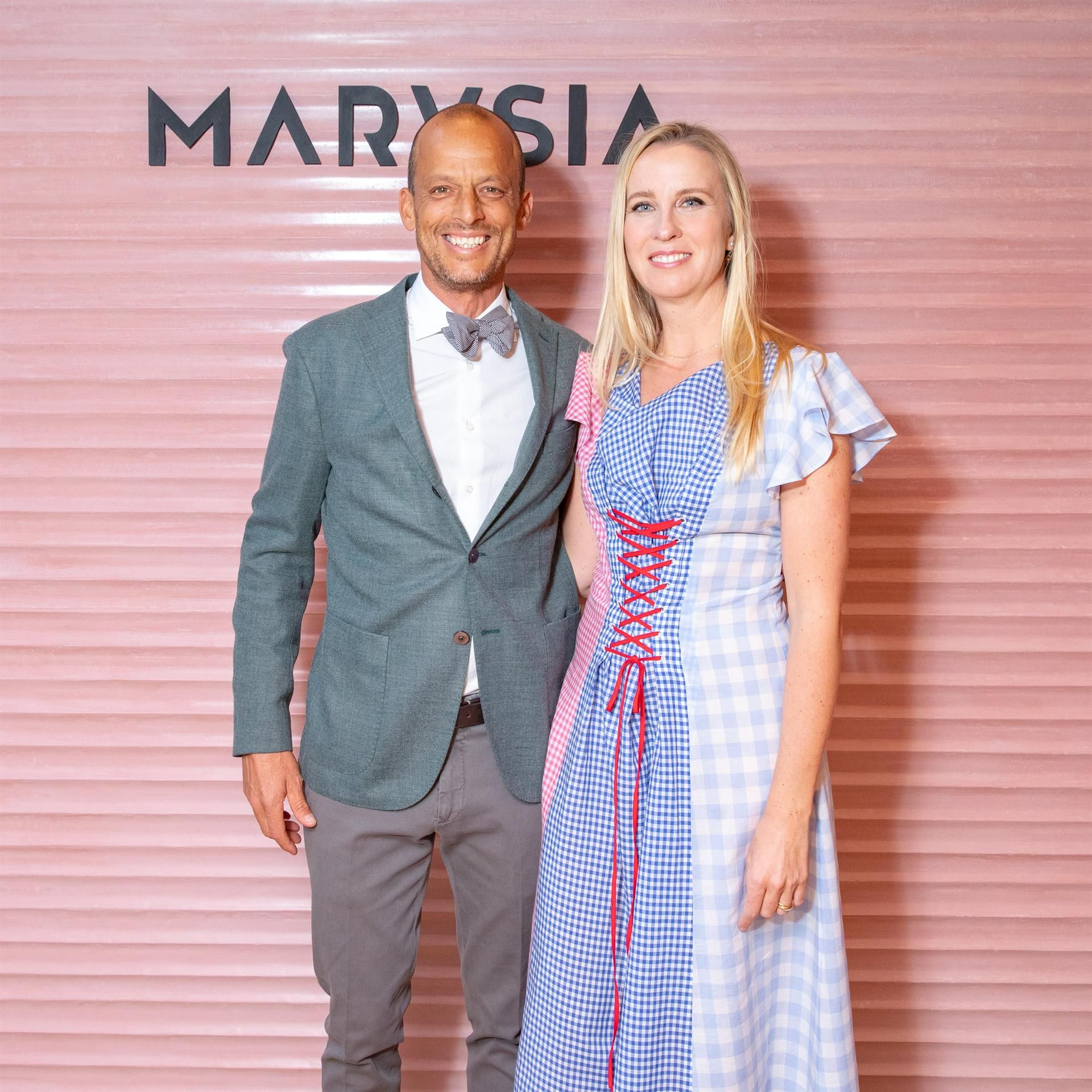 Nathaniel Reeves and Marysia Dobrzanska Reeves Nathaniel Reeves and Marysia Dobrzanska Reeves celebrate the opening of the Marysia Soho boutique on April 4 in New York City.